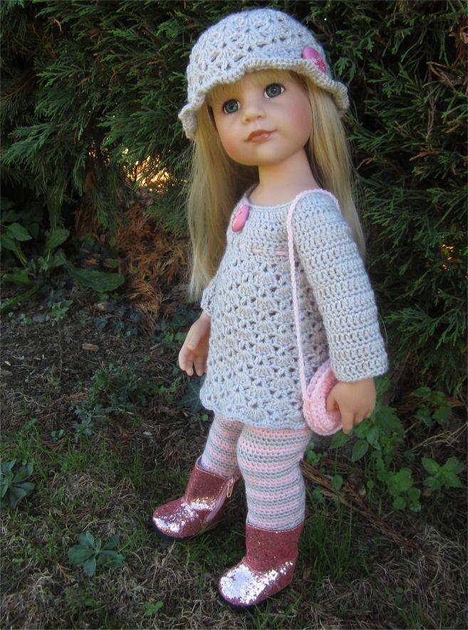 105- FICHE PATRON CROCHET Ensemble Clarisse pour poupée Hannah de Götz : Jeux, jouets par atelier-crochet
