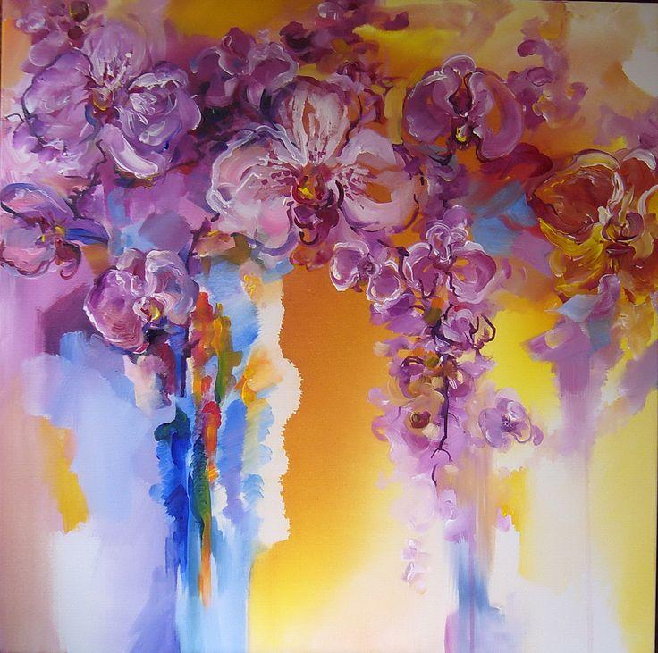 Orchids- acrylic on canvas, Derecichei Simona