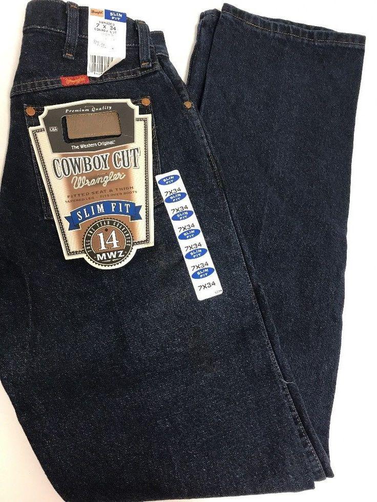 Nwt Women's 14Mwzdd Western Wrangler Cowboy Cut Slim Fit Jeans