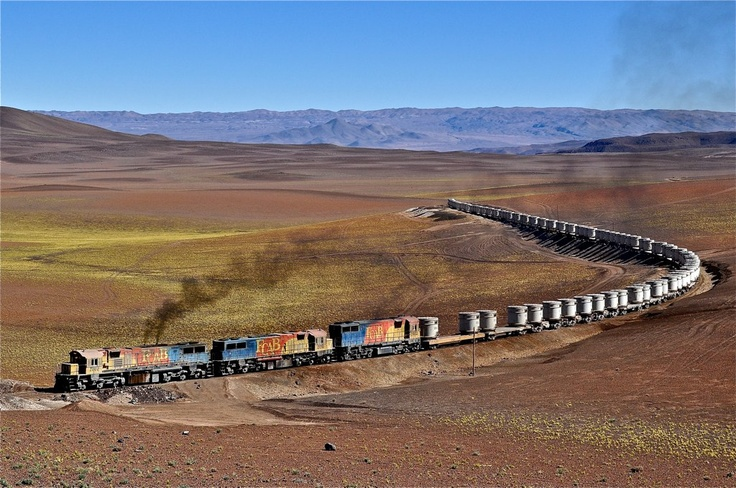 A train rushing through the fields of Polapi, Chile. Photo by Mauro.