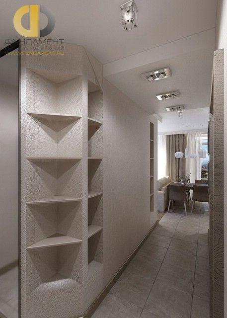Дизайн однокомнатной квартиры. Фото коридора