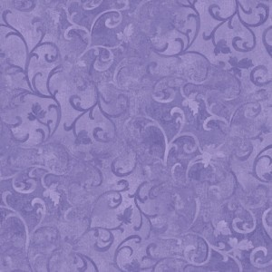 Essentials Scroll Cotton Fabric - Purple - Fabric