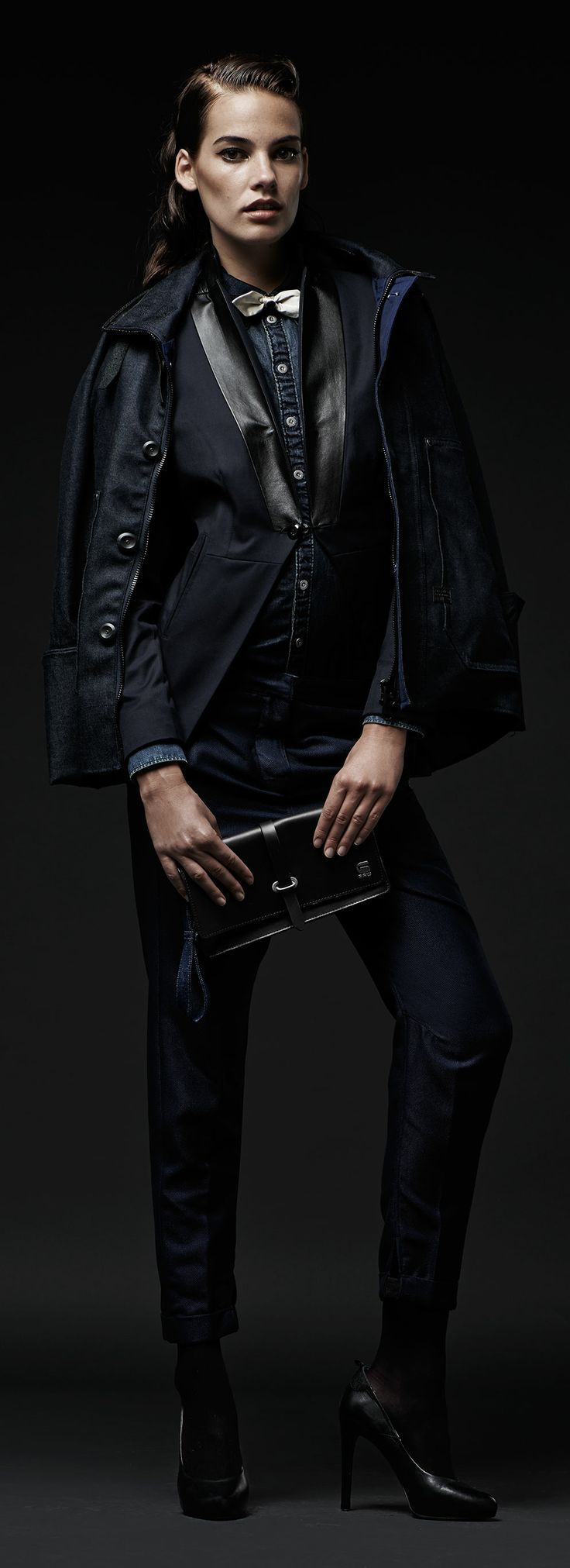 G-STAR RAW MIDNIGHT COLLECTION ALL-NIGHT PARTY An unexpected combination of denim and silk for seasonal revelry https://www.g-star.com/collection/women/midnight-look-3