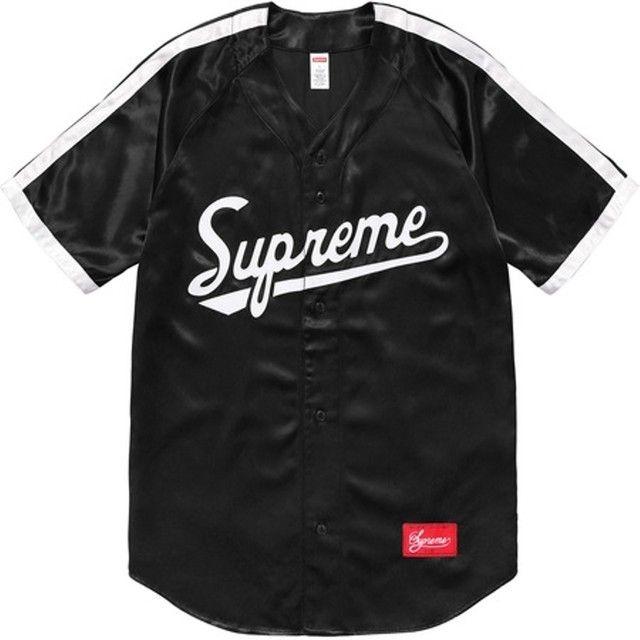 Satin Baseball Jersey Supreme Shirts Justin Bieber  83e246d26
