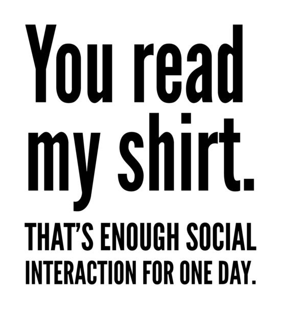 Poster | YOU READ MY SHIRT. THAT' von CreativeAngel | more posters at http://moreposter.de