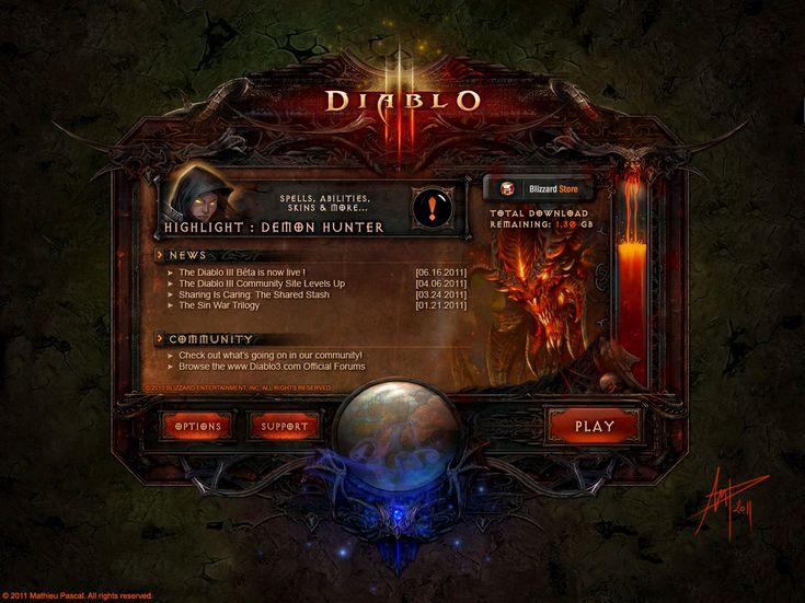 Diablo 3 Launcher by Panperkin.deviantart.com on @deviantART