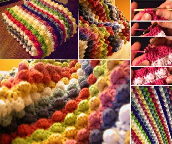 Bobble Stitch Crochet Blanket Pattern Video Tutorial