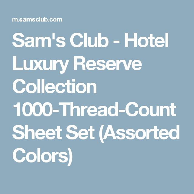 Sam's Club - Hotel Luxury Reserve Collection 1000-Thread-Count Sheet Set (Assorted Colors)