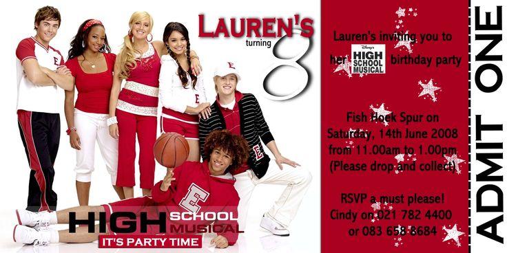 Lauren's 8th birthday invite