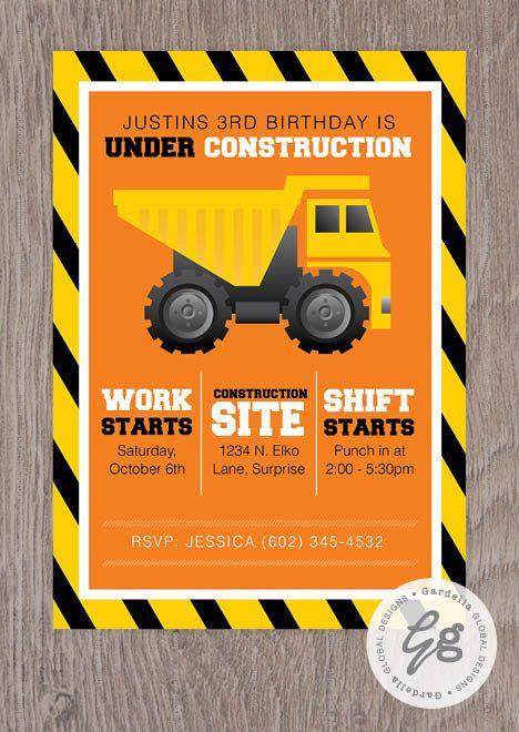 under construction birthday party construction invitation tools