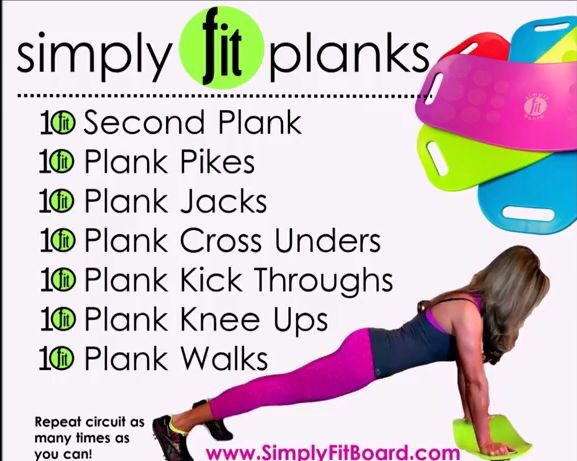 Fit board exercises | Fitness | Pinterest