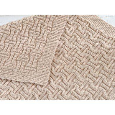 Double Basketweave Blanket Knitting pattern by Caroline Brooke | Knitting Patter…