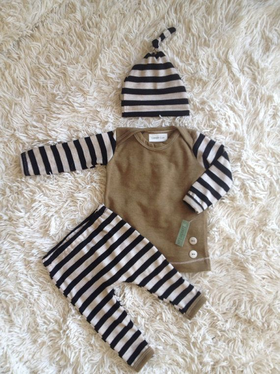 Baby boy coming home outfit Newborn pants shirt and by Londinlux