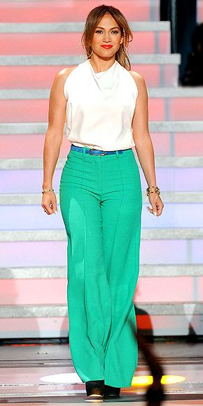 sleeveless neutral top + brightly colored flowing pants/skirt = summer to fall transition wear