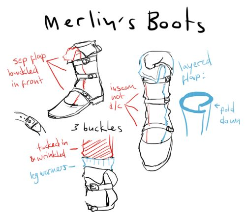 A break-down of Merlin's boots. I love belonging to a fandom where every piece of clothing is dissected for better cosplay!