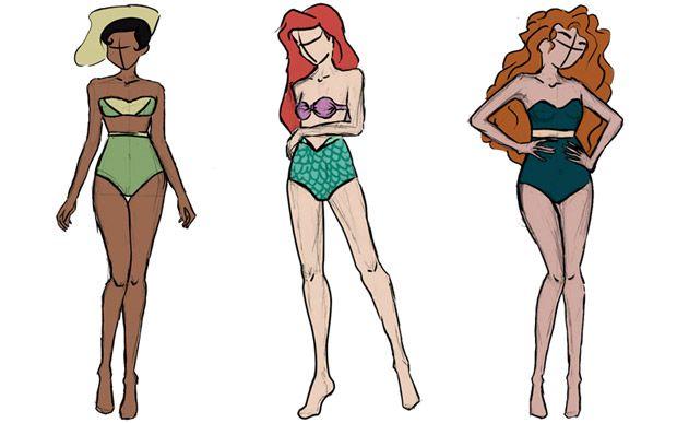 Artista desenha biquínis para as princesas da Disney - Moda - CAPRICHO