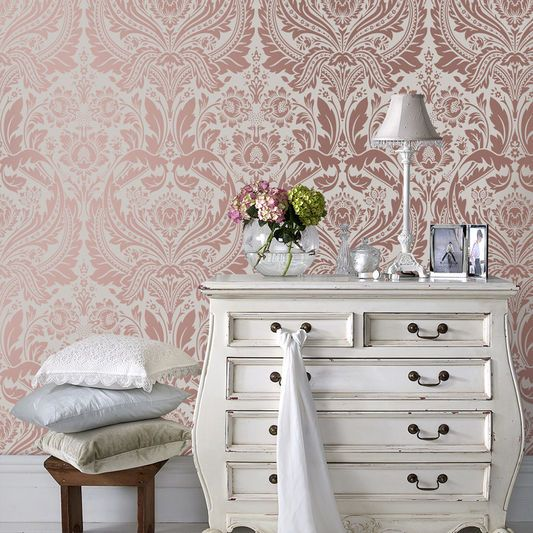 Desire Rose Gold & Mink Wallpaper