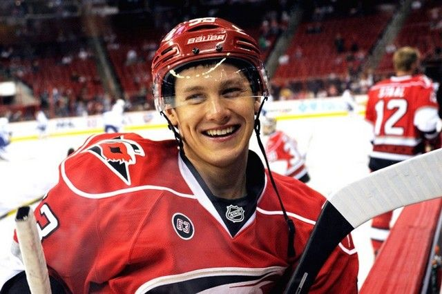 Jeff Skinner, Carolina Hurricanes.  So freaking adorbs, I can't stand it.  The cutest hockey player in the NHL