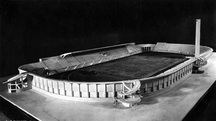 Stadio Comunale Giovanni Berta, Florence : Chalk model  (1930) | Architect : Pier Luigi Nervi | Photographer : Ferdinando Barsotti / RIBA Collections