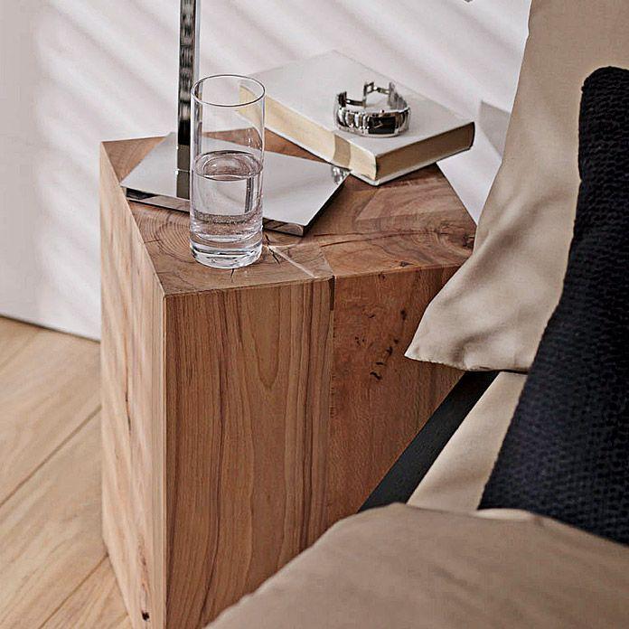 Bauhaus Noblewood Massivholzblock Buche 30 X 30 X 45 Cm Massivholz Tischplatte Wolle Kaufen Rustikaler Stil