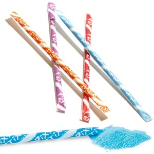 Candy in a straw - like sweet tart koolaidPixie Stix, Pixie Sticks