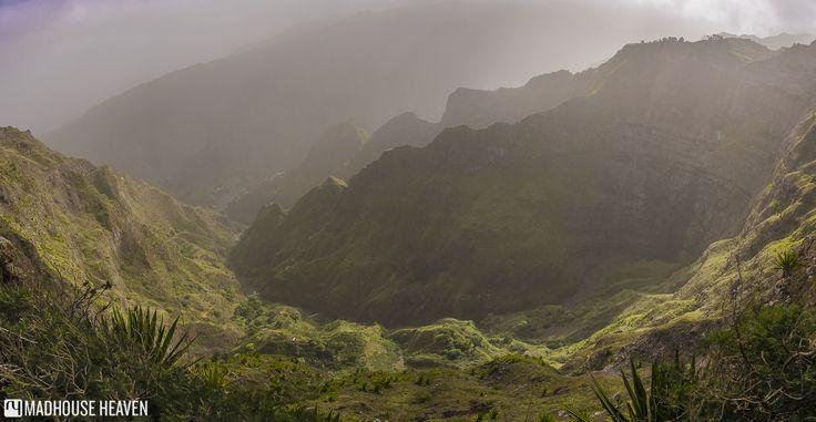 Vista along the Rua de Corda around the scenic Cova crater area,  Xôxô Valley, Santo Antão, Cape Verde