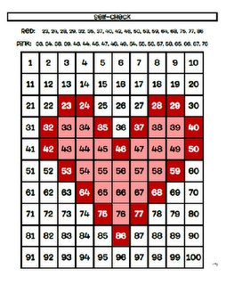 Hundreds Charts for Holidays and Activities {Freebies} ~ Could revise to make harder for third....