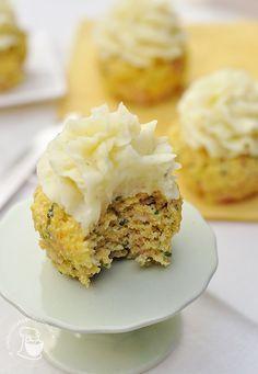 cupcakes de peito de peru