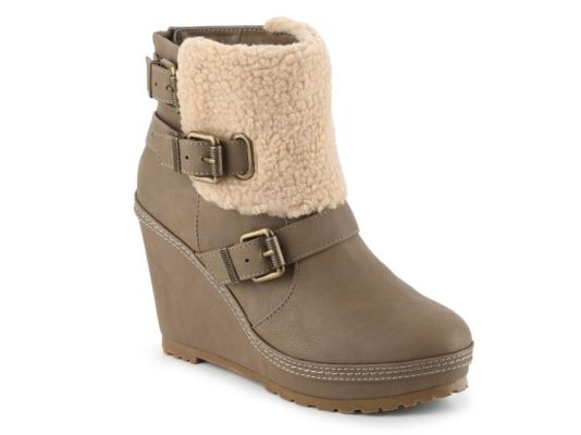 Women's Union Bay Apreski Wedge Bootie - Taupe