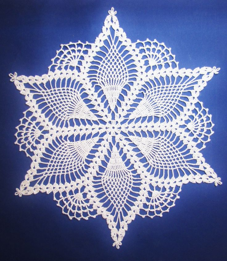 Free+Crochet+Doily+Patterns | This Pineapple Snowflake Doily pattern is a gift that will come with ...