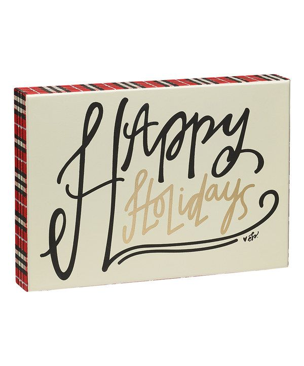 Look at this 'Happy Holidays' Plaid Box Sign on #zulily today!