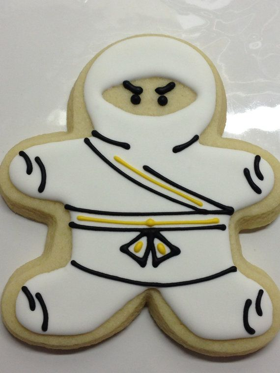The Original Ninja Cookies  Huge and THICK by DecoratedDesserts, $36.00