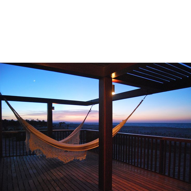 Behbahani Hall Architects / Beach House Preà, Brazil / Star deck, hammocks, sea view, kite surfing paradise
