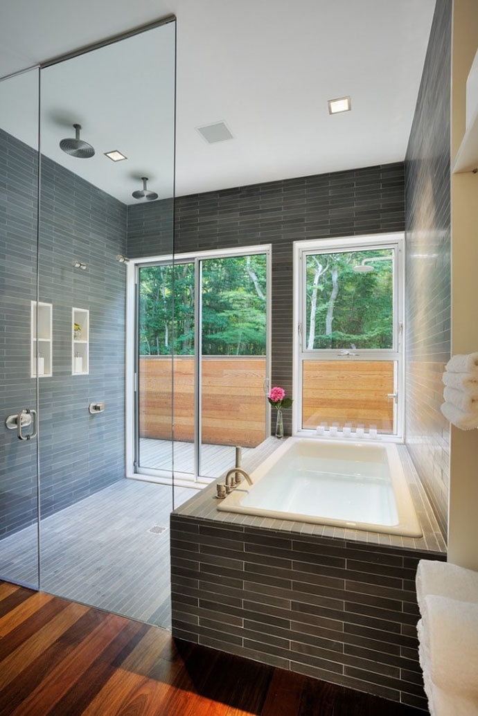 Bathroom Design   From A Single Family Residence, Called Quail Hill Located  In Amagansett,