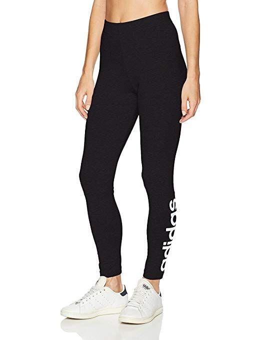 2680c061b6ddd1 adidas Women's Athletics Essential Linear Tights, Black/White, Small ...