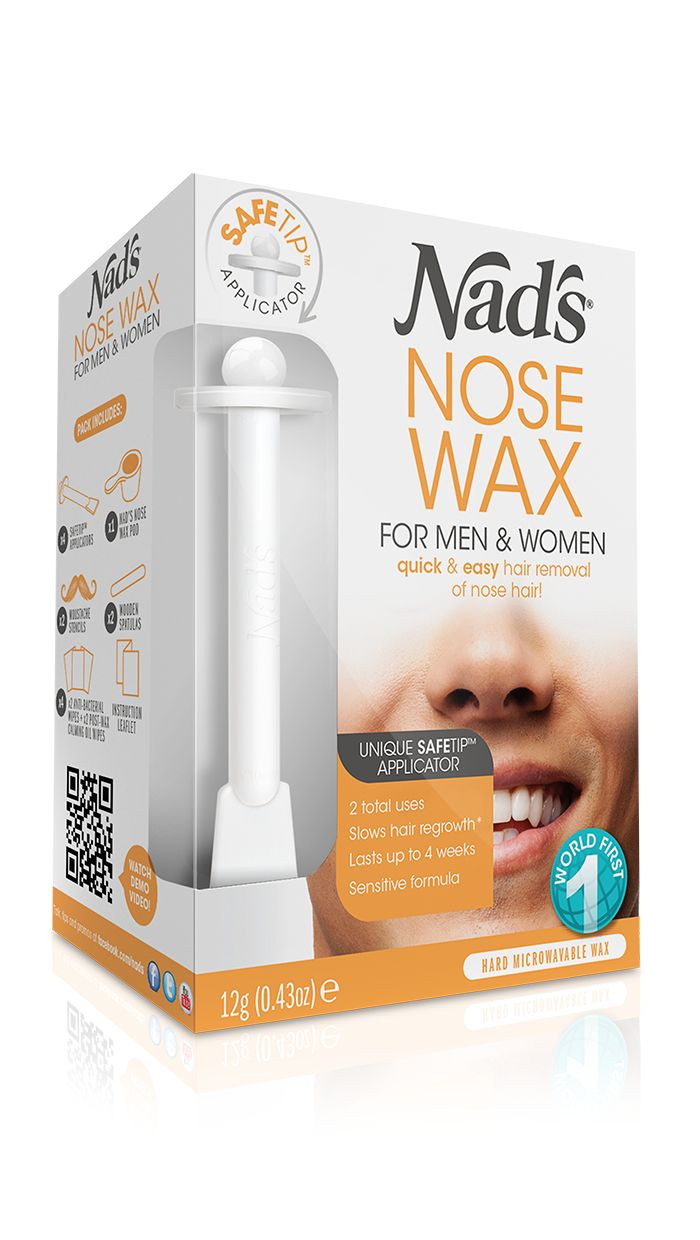 Nad's Hair Removal Nose Wax for Men & Women