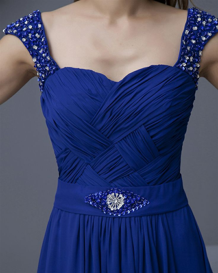 osell wholesale dropship Sweetheart Floor Length Chiffon Beading Pleated Evening Prom Dresses $68.87