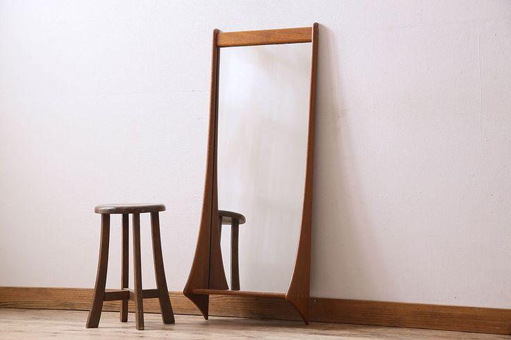 北欧家具 珍しいデザインの壁掛けミラー(鏡、ウォールミラー)