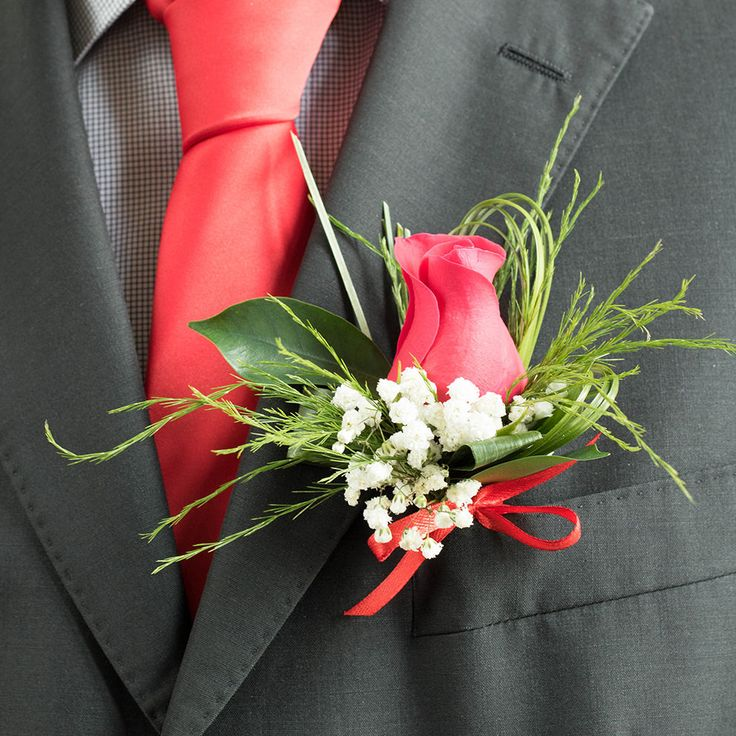 Red Rose Groom Buttonhole #groom #wedding #buttonhole #red #rose https://handyflowers.co.uk/red-rose-groom-buttonhole