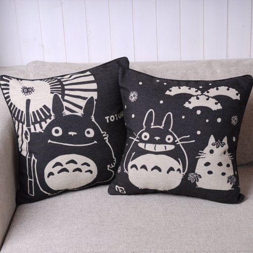 Amazon Price Tracking and History for: Totoro Pair of Black Totoro Series Print Decorative Pillow Covers 45CMx45CM Linen Throw Pillow Covers Sofa Cushions Black, 45cm x 45cm by Totoro - (B01AHFHU6O)