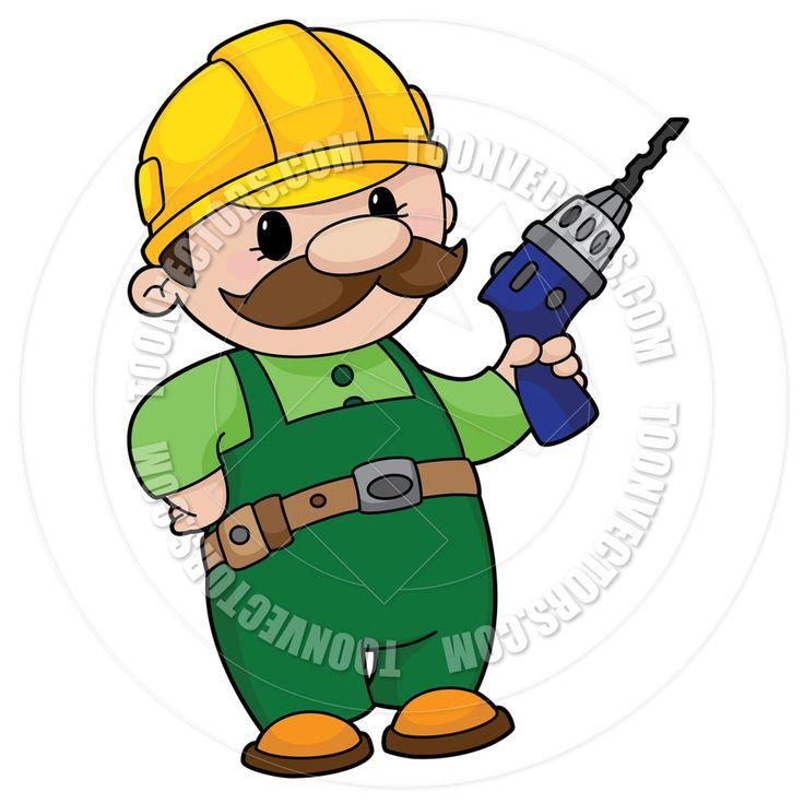 clipart construction worker cartoon - photo #12