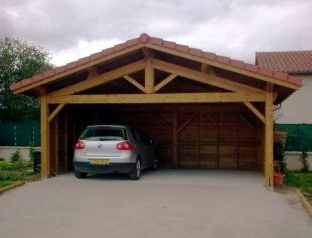 Une charpente en bois pour votre abris d 39 auto il n 39 y a for Abri auto bois