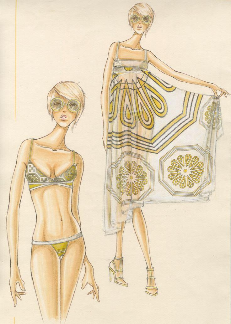 Design & Illustration by Stanley Do for Trina Turk | Otis Fashion