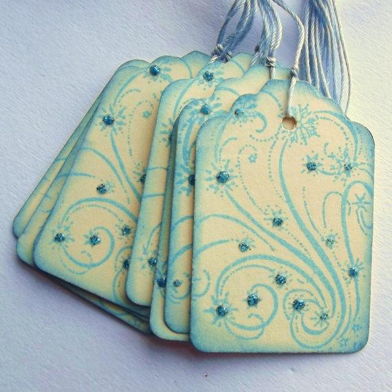 winter wonderland with sparkle!Blue Sparkle, Swirls Tags, Tags Scrapbook, Winter Wonderland, Blue Tags, Cards Tags, Gift Tags, Tags Cards, Blue Swirls