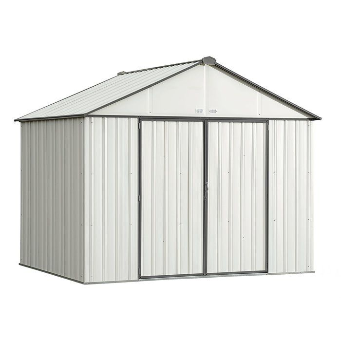 Ezee Shed 10 Ft W X 8 Ft D Metal Storage Shed Metal Storage Sheds Steel Storage Sheds Steel Sheds