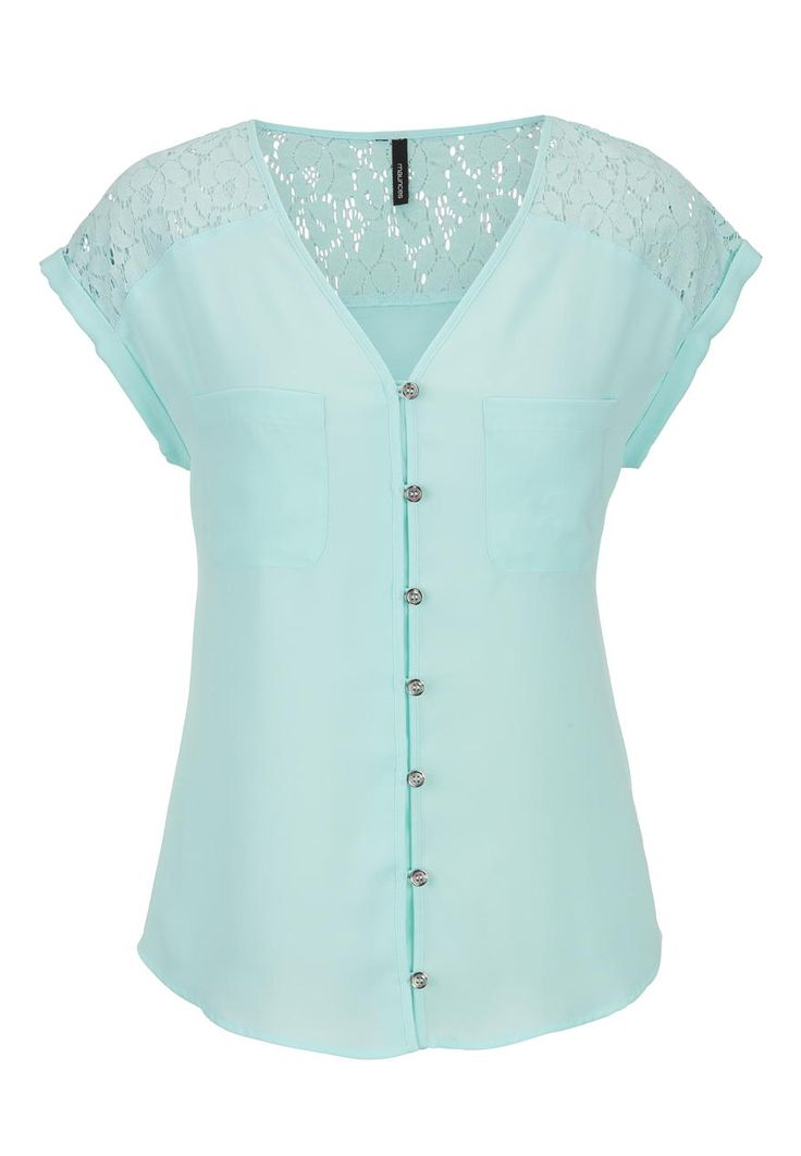 lace shoulder chiffon top