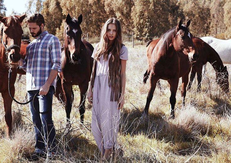Old Khaki Summer 2015 Campaign #canvas #advertising #artdirection #fashion #shoot #horses #oldkhaki #carolinemackintosh