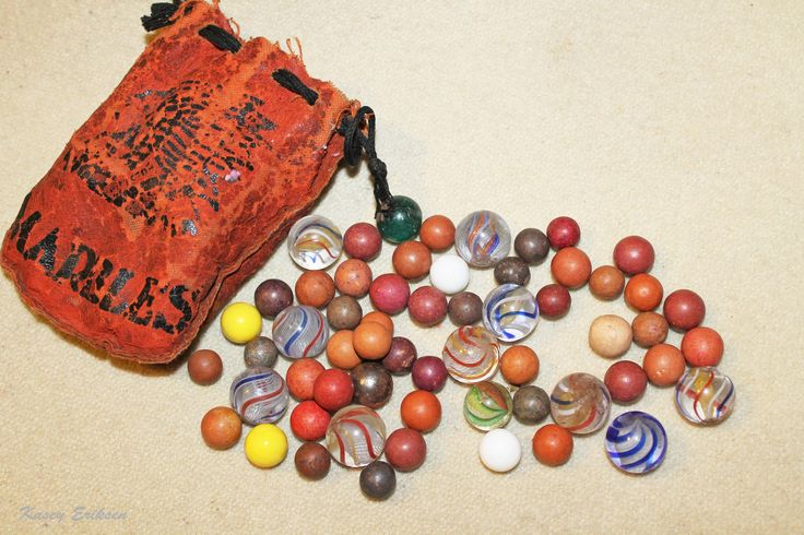 Vintage marbles and leather bag | Flickr - Photo Sharing!