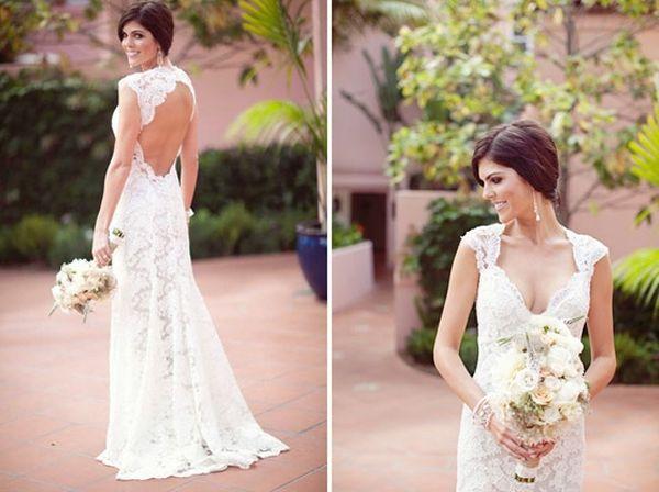84 best images about Robes de Mariées Dos Nus - Open Back Wedding ...