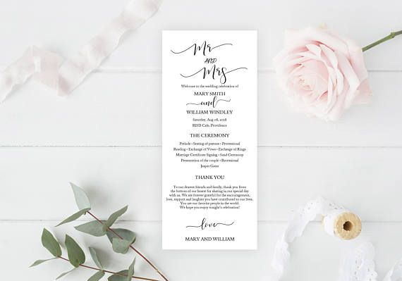 SALE! Wedding Program Template Editable Wedding Programs Instant Download Custom Wedding Program Printable DIY Ceremony Program inv00203 by JessicaMichaelPrints